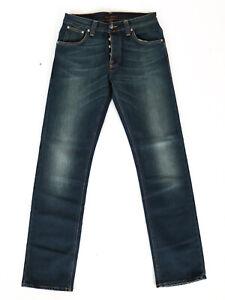 Nudie-Herren-Regular-Fit-Stretch-Jeans-Average-Joe-Deep-Blue-W29-L32