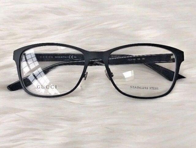 ee88baa8ccf51 New GUCCI Eyeglasses Frame GG 4268 10G Black Women NOSE PADS Metal Plastic  53 mm