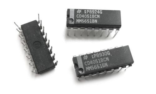 MM5651BN multiplexor 4051 IC asimétrica 2 Piezas CD4051BCN