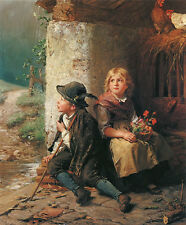 Piove Felix Schlesinger bambini polli noia canoni Chiemsee pittore a3 165