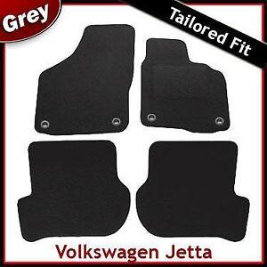 Volkswagen-VW-Jetta-Mk5-2006-2011-Oval-Clips-Tailored-Carpet-Mats-GREY