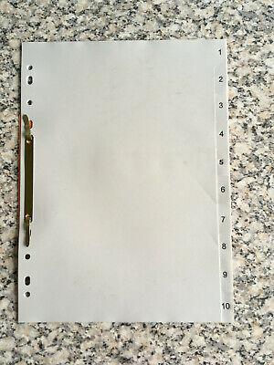 1 Din 4 Register: 1-10, Grauer Kunststoff