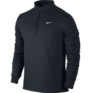 Sala Pepino ecuación  Nike Dri-FIT Thermal Half-Zip Men's Running Shirt S Black Gray Caual Gym  New 886060705075 | eBay