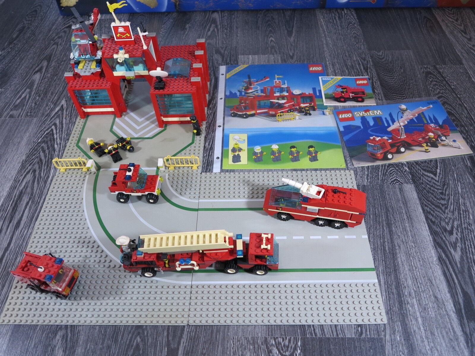 Lego City 6389,6650,6340 pompiers, voitures, camions, deuxième, 2-Disques, ect.