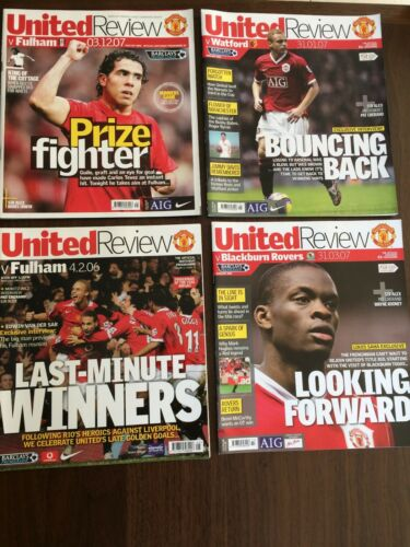 4 X MANCHESTER UNITED 2006 & 2007 HOME LEAGUE PROGRAMMES