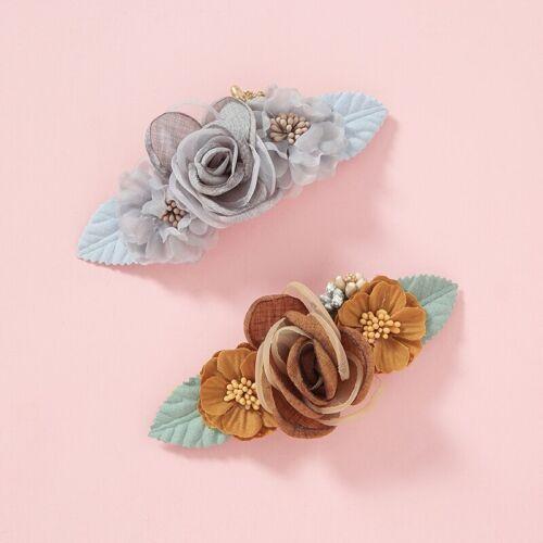 Floral Baby Girls Headband Soft Nylon Hair Band Girls Hair Accessories Turban