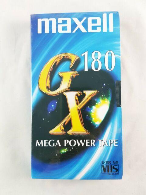 Maxell GX180 Mega Power Tape - E-180 GX VHS - Brand New Blank Video Cassette