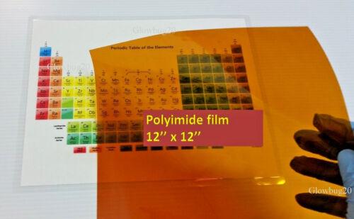 304mm x 304mm size  12/'/' x 12/'/' Polyimide Kapton Film 5mil