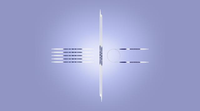 Aguja de Tejer Calcetines Plástico Ergonomía 20CM Grosores 2,0-8,0 MM