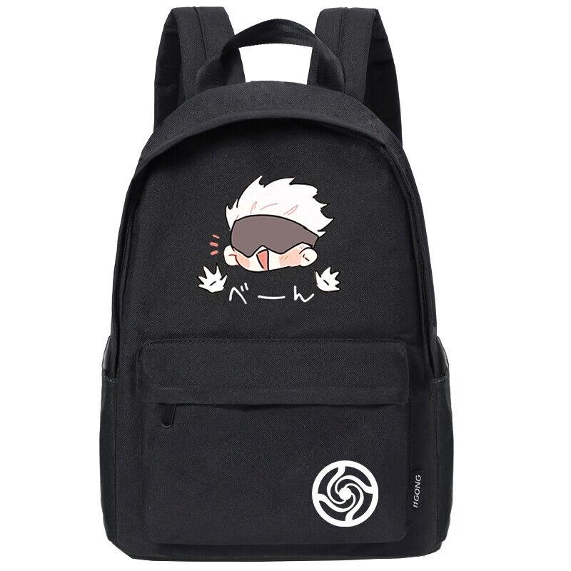 Anime Jujutsu Kaisen Gojo Satoru Casual Backpack Shoulders Bag Schoolbag #M29