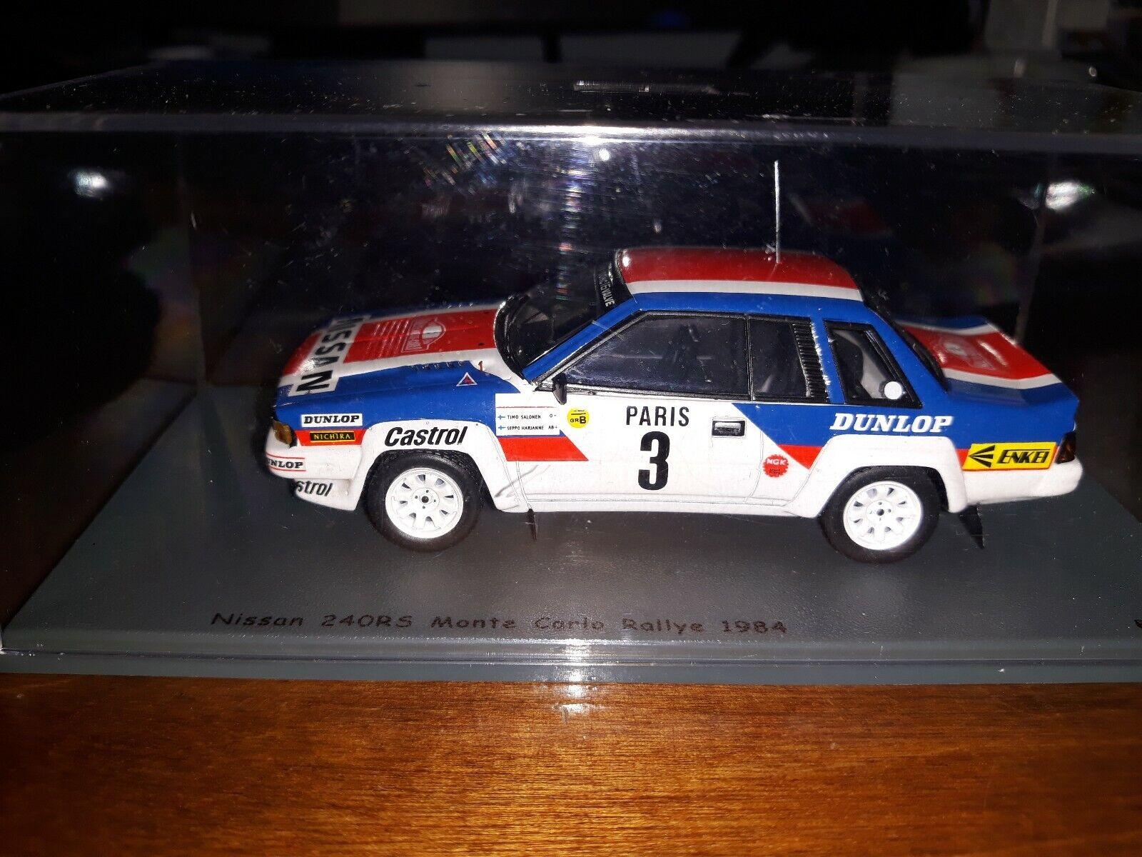 opciones a bajo precio Bizarre 1 43 Nissan 240RS  3 3 3 Monte Cochelo Rallye 1984  hasta 42% de descuento