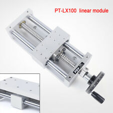 Cnc Manual Xyz Axis Sliding Table Linear Rail Stage Ball Screw Pt Lx100 130mm Us