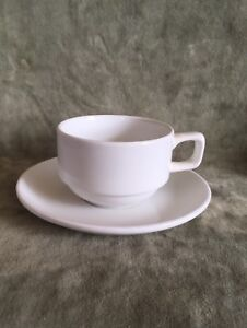 Image is loading Williams-Sonoma-Everyday-Dinnerware-Cup-&-Saucer-Set- & Williams Sonoma Everyday Dinnerware Cup u0026 Saucer Set of Four | eBay