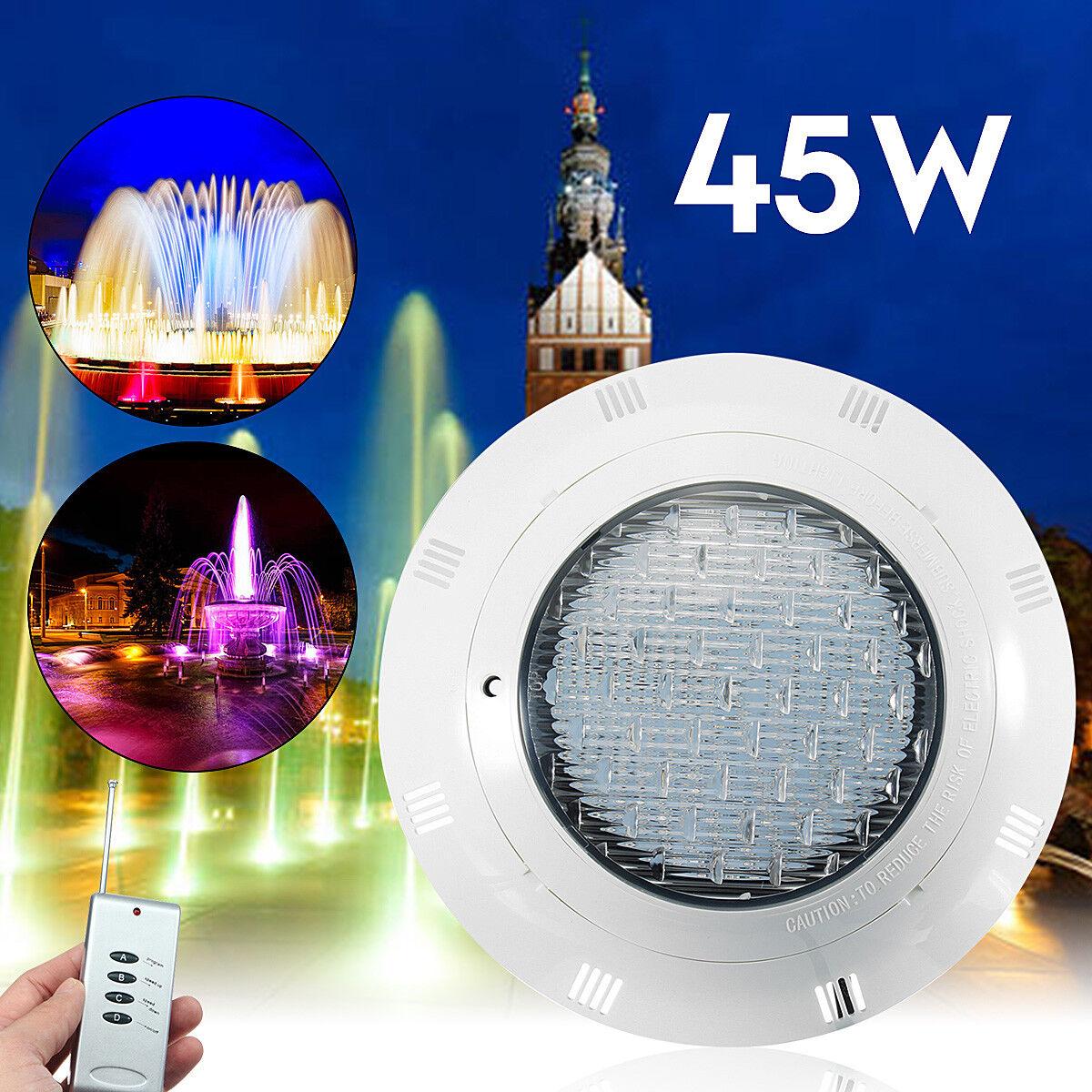 12 V 45 W LED RGB luz bajo el agua piscina montado en la parojo con Control Remoto
