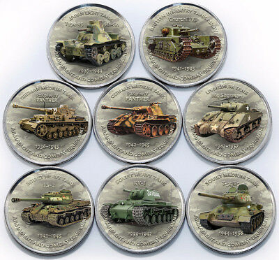 ZIMBABWE x3 Set 10pcs 2019 New set Colorized Tanks Planes Ships