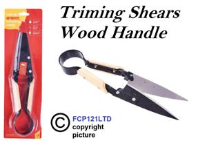 Tijera para recortar mango de madera cortador de precisión Hierba Jardín Nuevo tijeras de cobertura