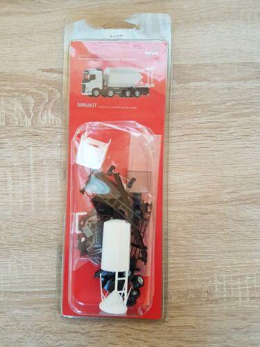 weiß Silosteller-LKW 4-achs Herpa Minikit 013604-1//87  Volvo FH Gl Neu