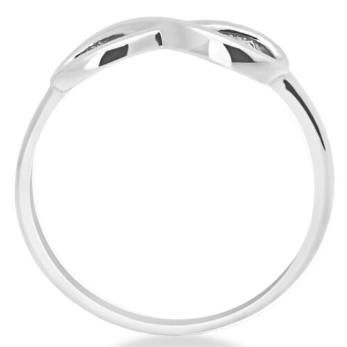 14K Solide Or Blanc Infinity anniversaire Ring Band