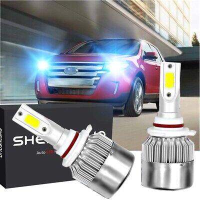 LED Headlight Bulb Lamps High Low Beam 9012 HIR2 for Ford Edge 2011-2014 White