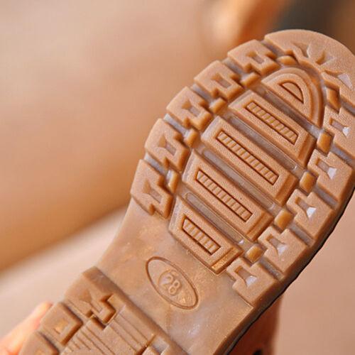 AU kids Shoes Leather Ankle Martin Boot Snow Warm Boys Girls Winter Children AU