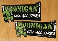 "2x Gymkahna Block Sticker ""HOONIGAN"" DC Aufkleber Drift OEM JDM Kill all Tires"