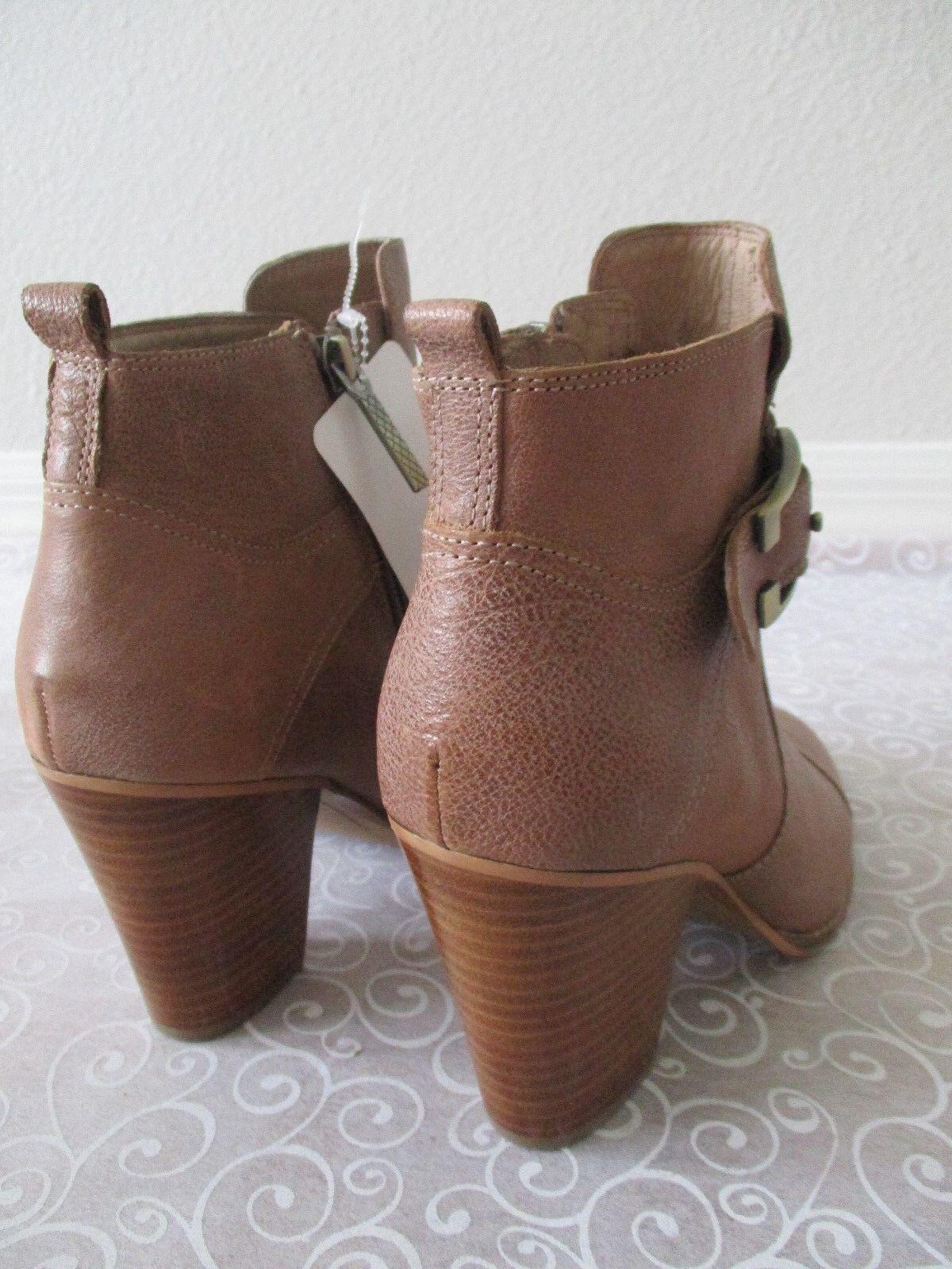 DONALD J PLINER braun BEIGE LEATHER ANKLE Stiefel Stiefel Stiefel Größe 8 1 2 M - NEW e01834