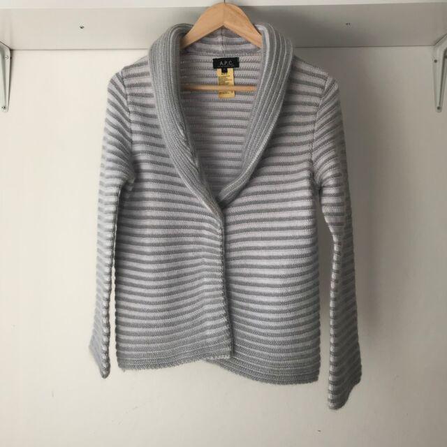 APC Rue De Fleurus Paris Womens Striped Career Cardigan, Size M