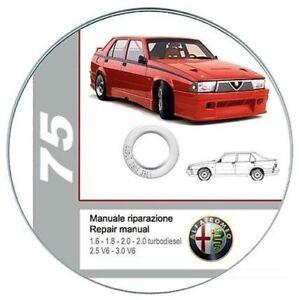 alfa romeo 75 workshop manual repair manual ebay rh ebay co uk alfa 75 repair manual pdf forum alfa romeo 75 repair manual