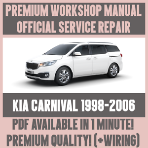 Details about WORKSHOP MANUAL SERVICE & REPAIR GUIDE for KIA CARNIVAL on