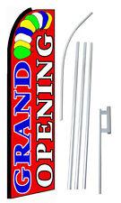 Grand Opening Flag Flutter Feather Banner Swooper Extra Wide Bundle Kit