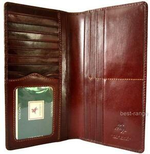 Visconti-Suit-Wallet-Real-Leather-Vintage-Brown-Quality-New-in-Gift-Box-MZ6