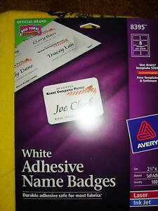 avery adhesive name badges labels 8395 72782083953 ebay