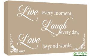 Live Laugh Love Quote Unique Beige Live Laugh Love Quote Canvas Wall Art Picture Print  A1 A2
