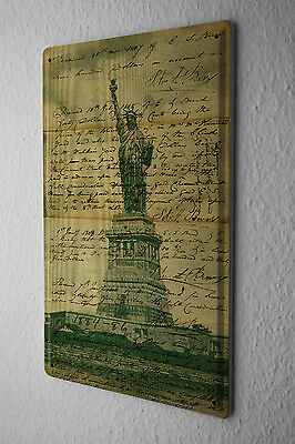 Tin Sign Adventurer Statue of Liberty ancient writings