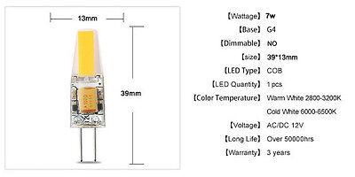 BAYOU G4 Mini LED 12V AC/DC COB Light 5W 7W Spot Lamp Bulb Cool/Warm White Bulbs