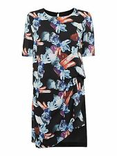 Beautiful Armani Jeans Short Sleeve Jewel Print Side Ruched Dress Size 46 £185
