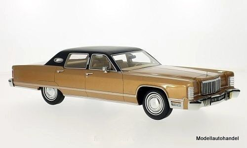 LINCOLN Continental Sedan 1975 met. - marron clair 1 18 Bos