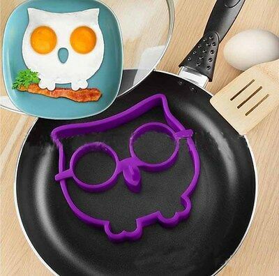 Hot Owl Eggs Shaper Eggs Ring Kitchen Tool Funny Side Up Owl Egg Corral Silicone