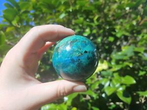 Malachite-Chrysocolla-Sphere-RARE-COMBINATION-SUPER-SPECTACULAR-Great