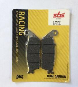 Detalles de SBS Dual Carbono 627DC PASTILLAS DE FRENO DELANTERA NISSIN Honda CB500 94 95 Bicicleta de pista de carreras ver título original