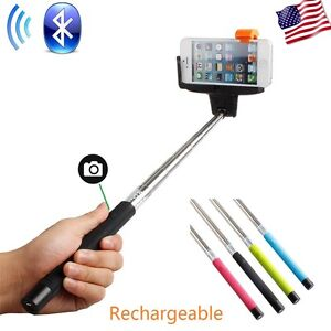 wireless bluetooth extendable selfie monopod phone stick pole with remote button ebay. Black Bedroom Furniture Sets. Home Design Ideas