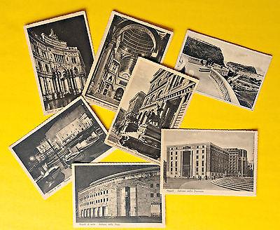 Lot Antique Postcards Ephemera Italy Naples Napoli 1940 Vintage Architecture Old