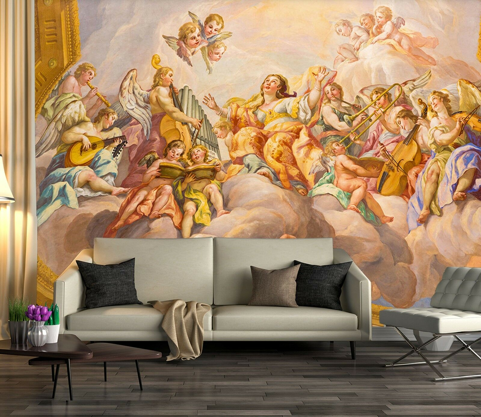 3D Heaven Angel Palace 4 Wall Paper wall Print Decal Wall Deco Indoor wall Mural