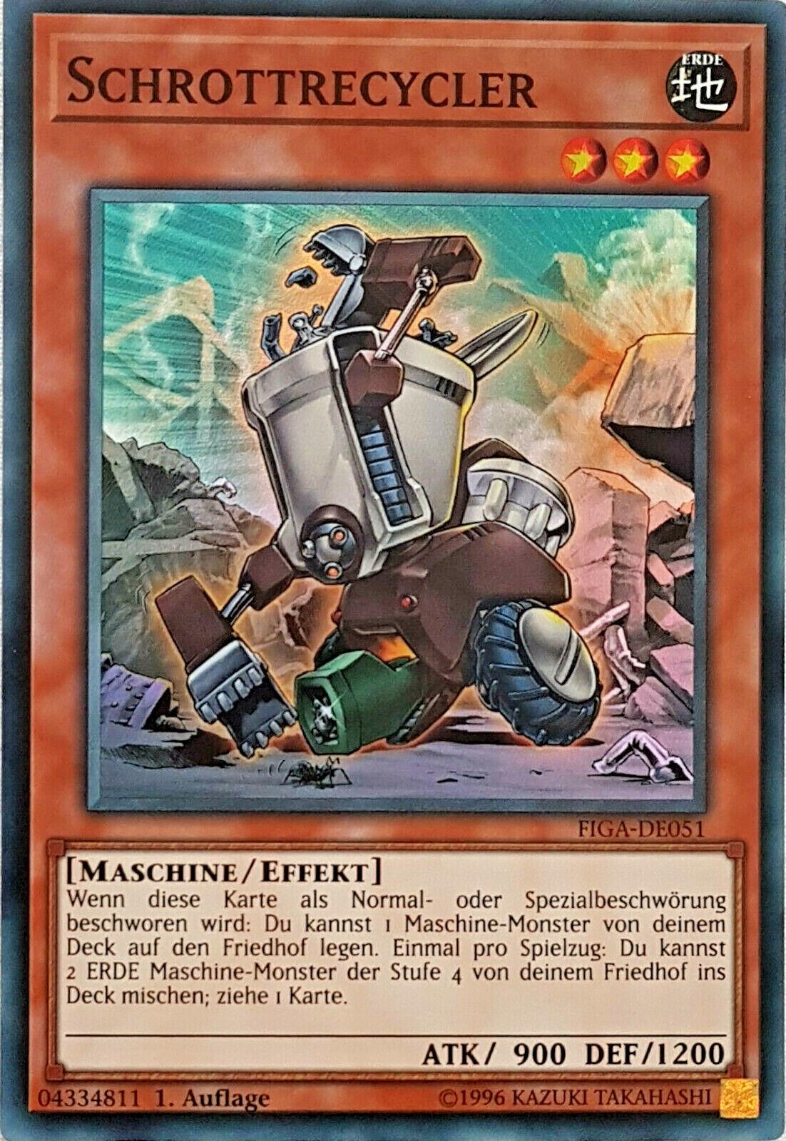 Yu-GI-OH Schrottrecycler Super Rare FIGA-DE051 NEU!