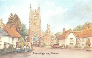 Art-Postcard-Drewsteighton-Devon-by-David-Skipp-AJ8