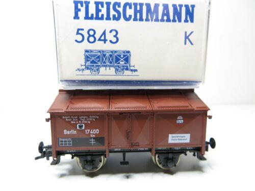 Klappdeckelwagen braun der KPEV 216HO Fleischmann H0 5843 k top in OVP