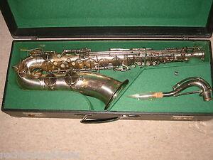"""Strict Belle Ancienne Tenoraxophon Tenor Saxophone """"weltklang"""" Environ 1960 Saxophone-afficher Le Titre D'origine"""