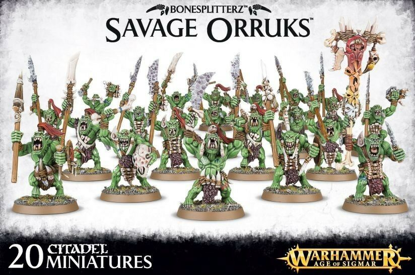 Bonesplitterz savage orruks warhammer alter sigmar games workshop brutale orks