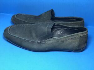 Bugatchi-Men-039-s-Black-Loafer-Suede-Shoes-Sz-10-Driving-Moccasin-04