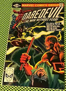 Daredevil-168-VF-7-5-1st-Appearance-Elektra-Frank-Miller-Story-Art